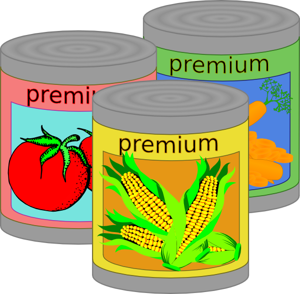 Canned Goods Clip Art At Clker Com   Vector Clip Art Online Royalty