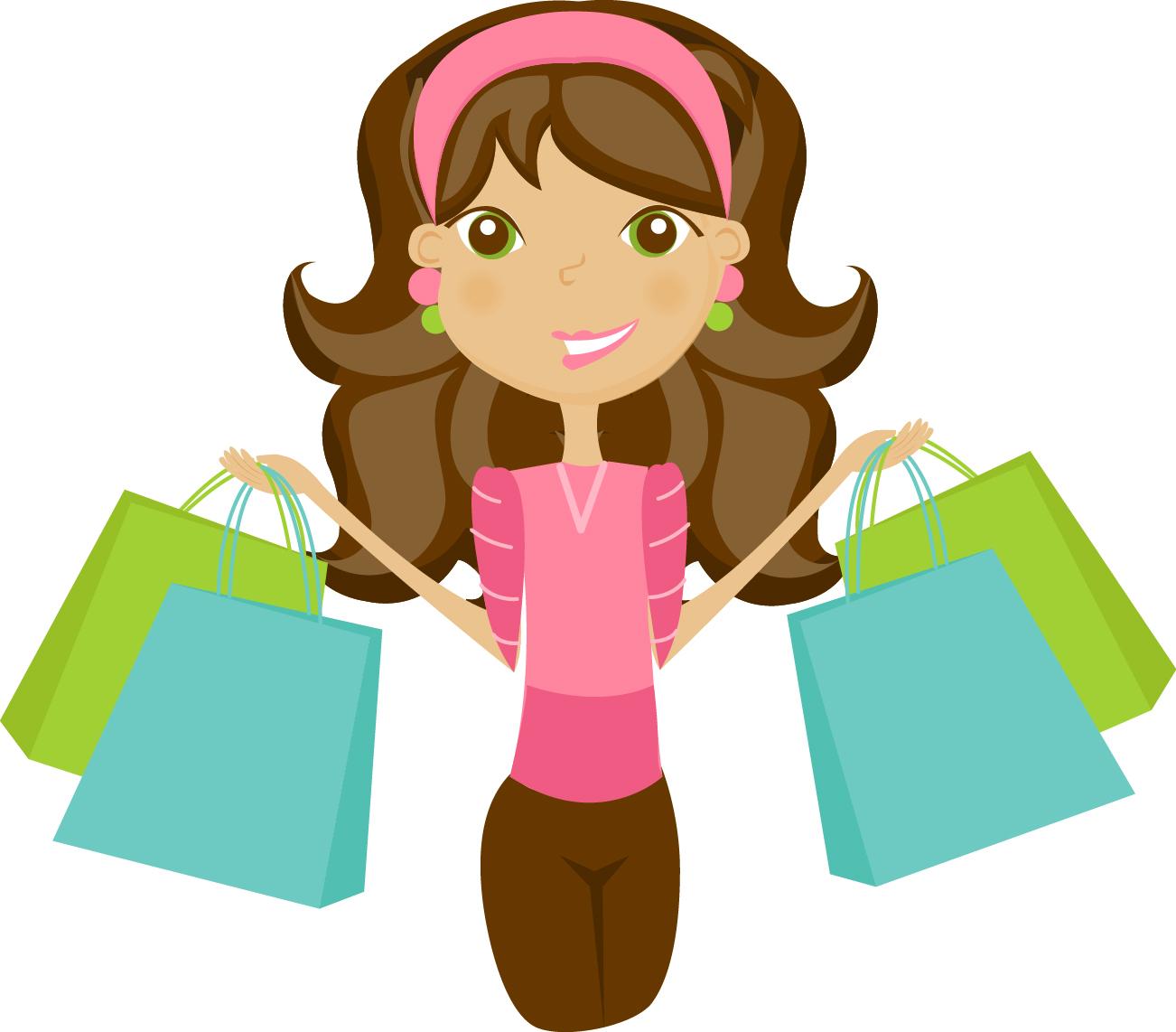 Shopping Girl Clipart - Clipart Kid