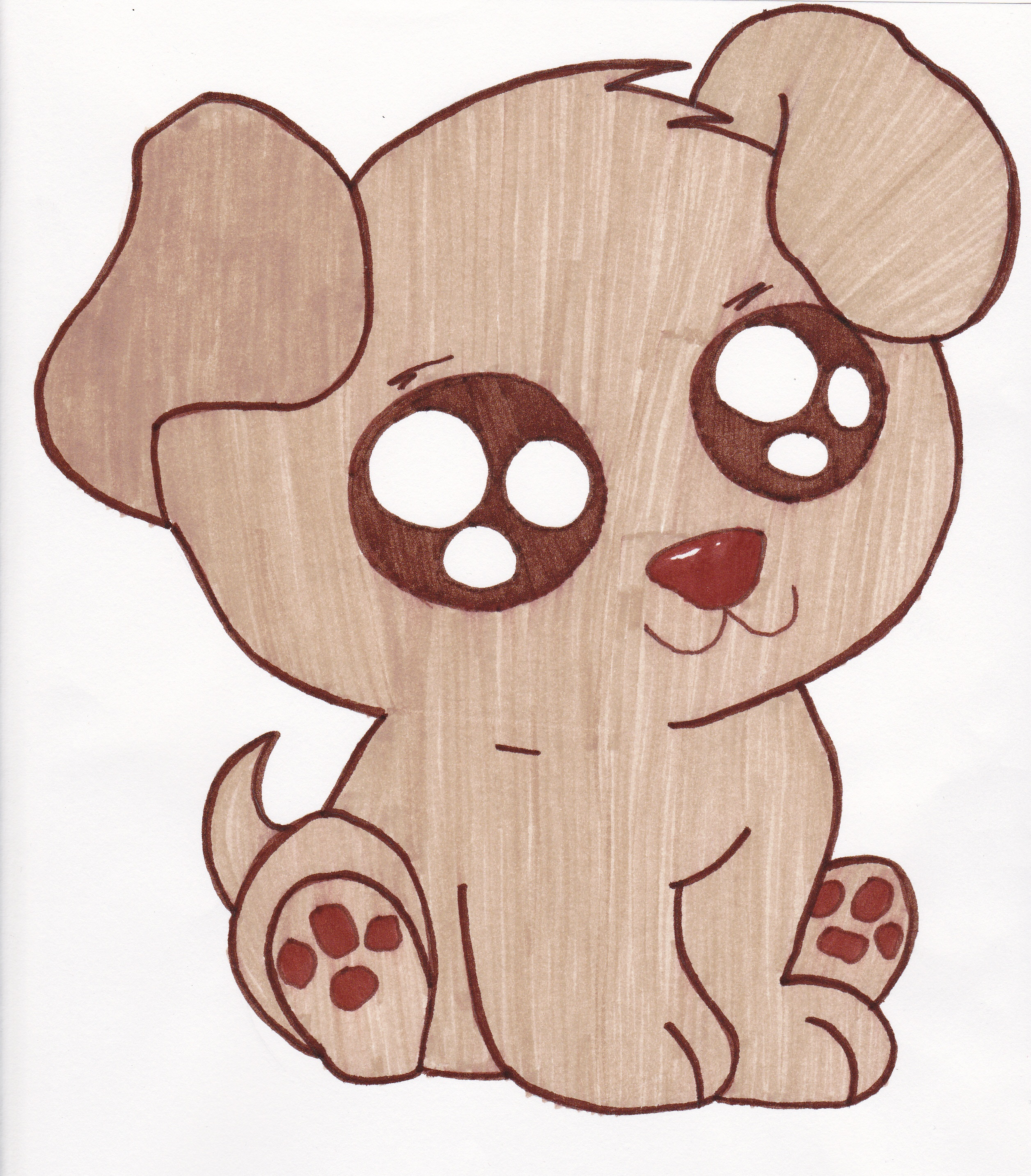 Cute Puppy   Free Images At Clker Com   Vector Clip Art Online