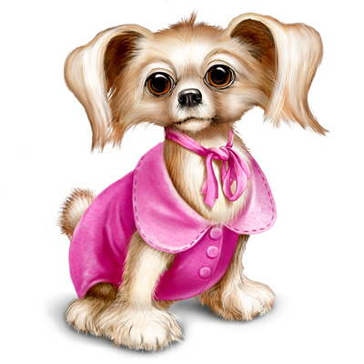 Cute Puppy Illustrations Dressed Yorkshire Dog Clipart   Just Free