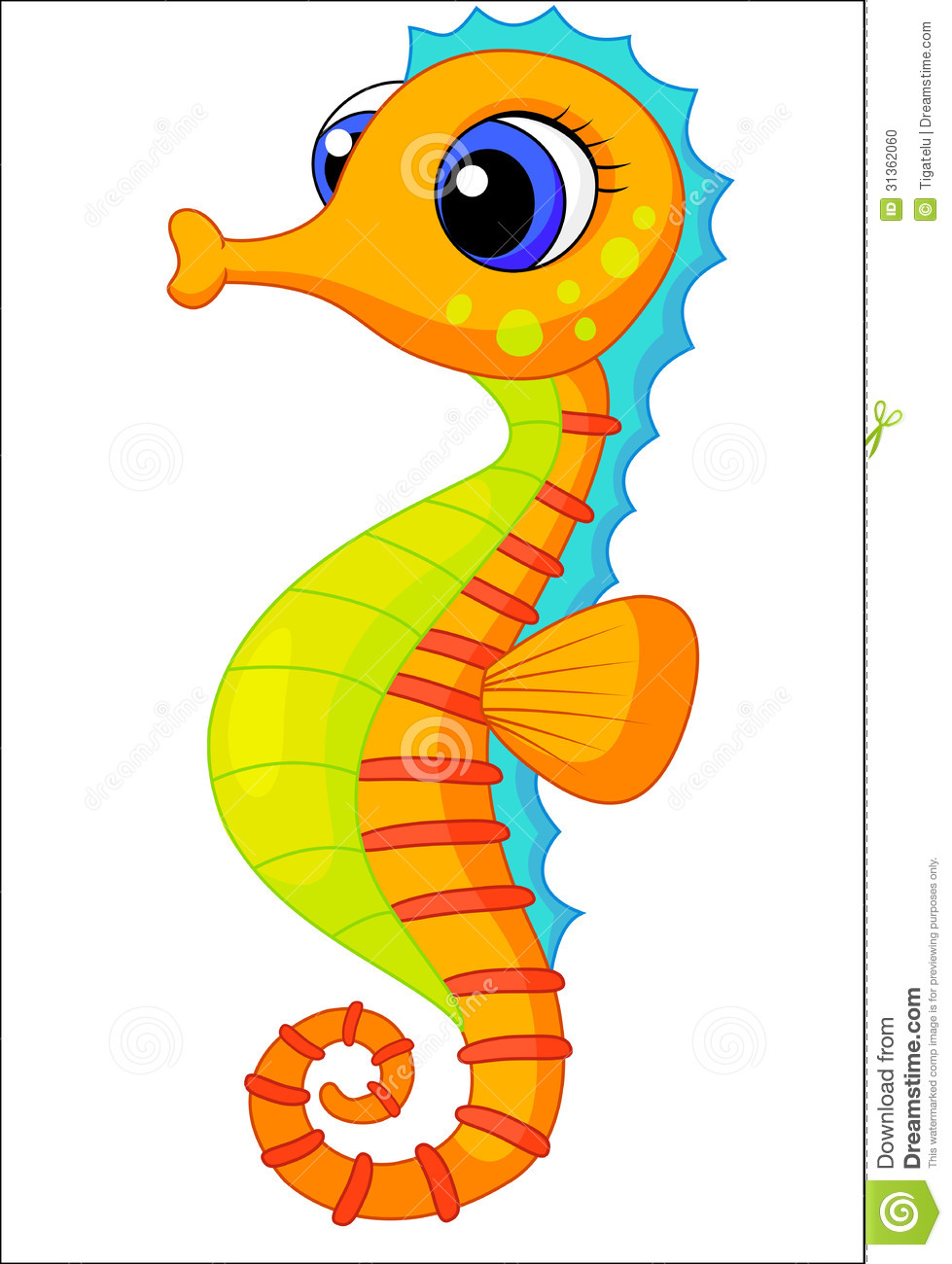 Cute Seahorse Clipart   Clipart Panda   Free Clipart Images