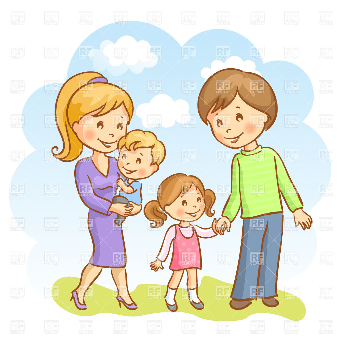 Clip Art Happy Family Clipart happy family clipart kid father and daughter baby