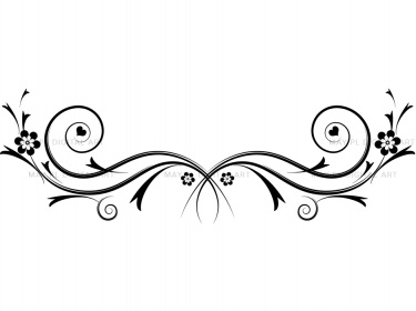 Flourishes Decorations   Black Curly Flourishes Swirls Clipart 10086
