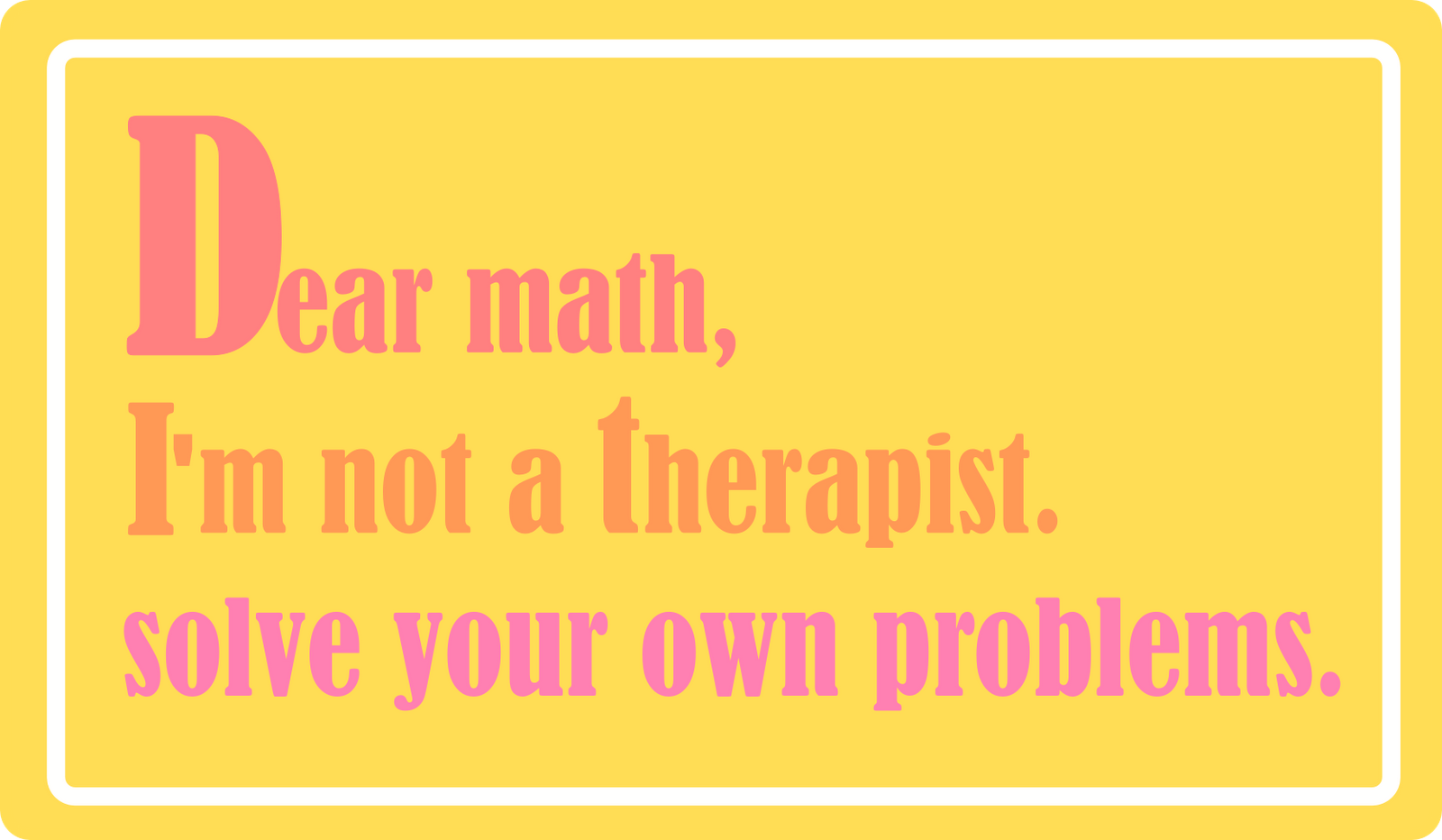 Free Printable Funny Math Quote   Lustige Spr Che Viii   Freebie