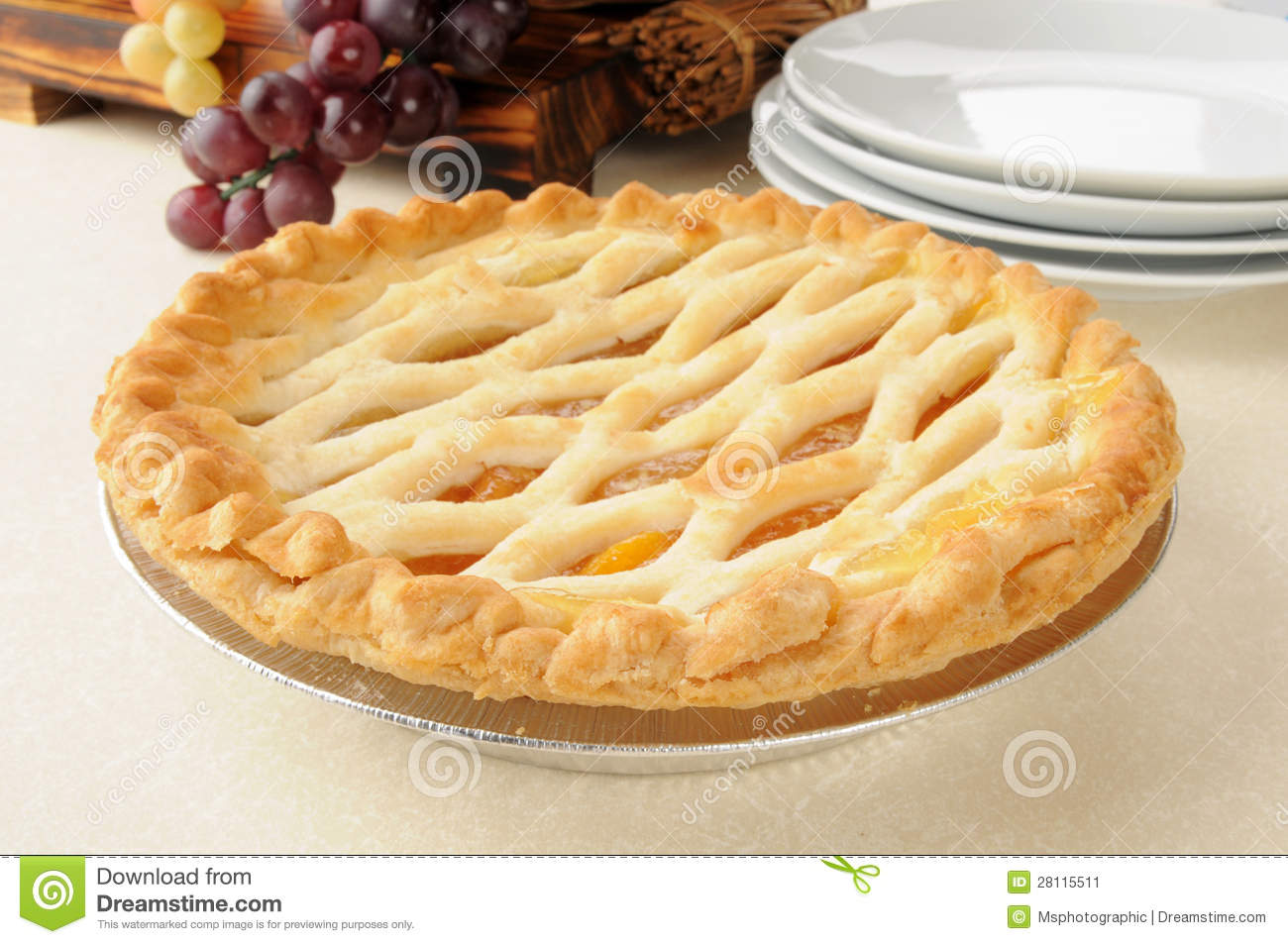 Gourmet Peach Pie Stock Image   Image  28115511