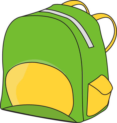 Green Backpack Clip Art Image   Green Backpack With A Yellow Pocket