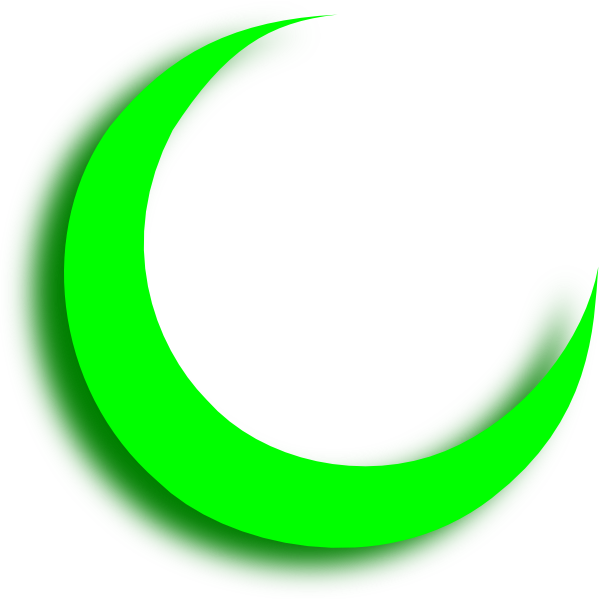 Green Crescent Clip Art At Clker Com   Vector Clip Art Online Royalty