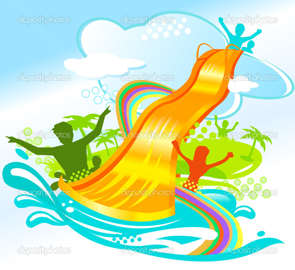 Inflatable Water Slide Clipart   Cliparthut   Free Clipart