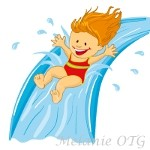 Inflatable Water Slide Clipart Girl On Water Slide 150 Jpg