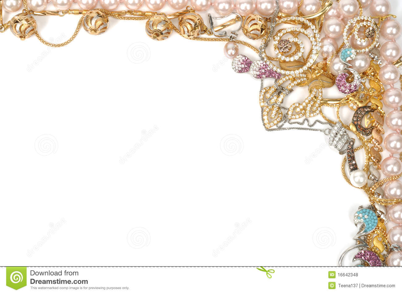 Jewelry Border Clipart Jewelry Border