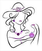 Jewelry Clip Art 12884393 Drawing Of A Woman With Jewelry And Perfume