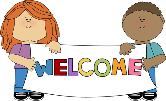 Kids Holding A Welcome Sign Clip Art   Kids Holding A Welcome Sign