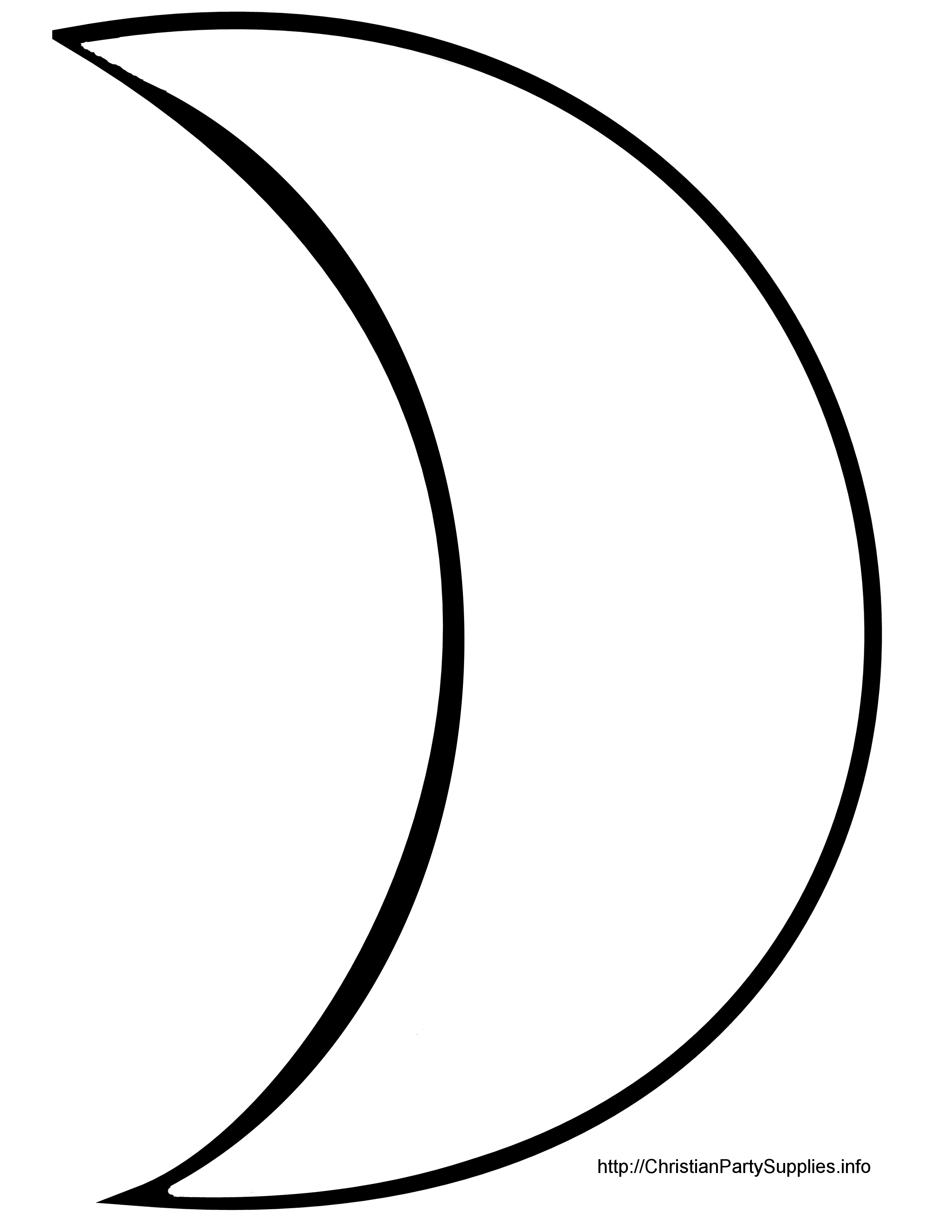 Moon Clipart Outline Crescent Moon Clipart Cutout Outline Jpg