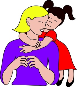 Clip Art Mom Clip Art mom and daughter clipart kid mother image little girl hugging her mom