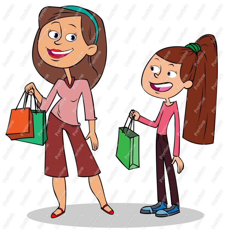 Mom Shopping Clipart