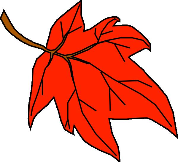 Orange Leaf Clip Art At Clker Com   Vector Clip Art Online Royalty