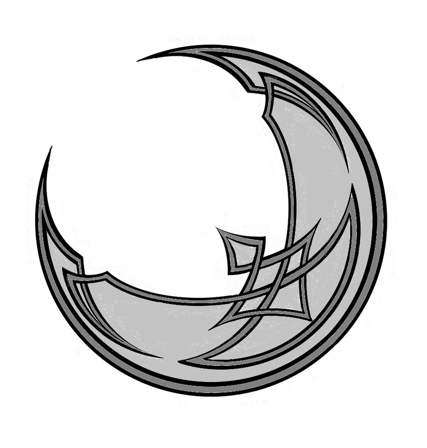 Outline Of A Crescent Moon   Clipart Best
