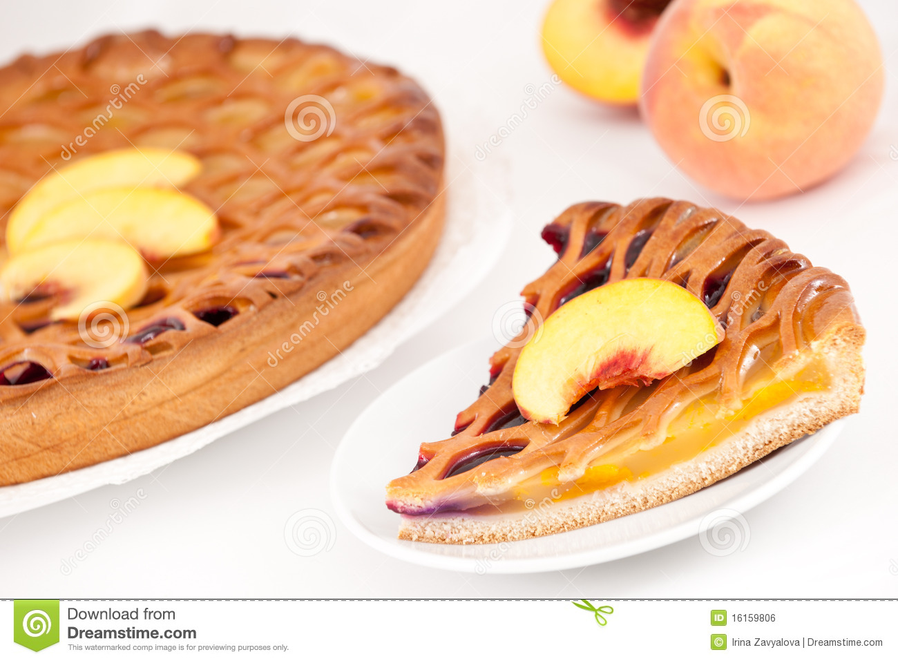 Peach Cherry Pie Royalty Free Stock Image   Image  16159806