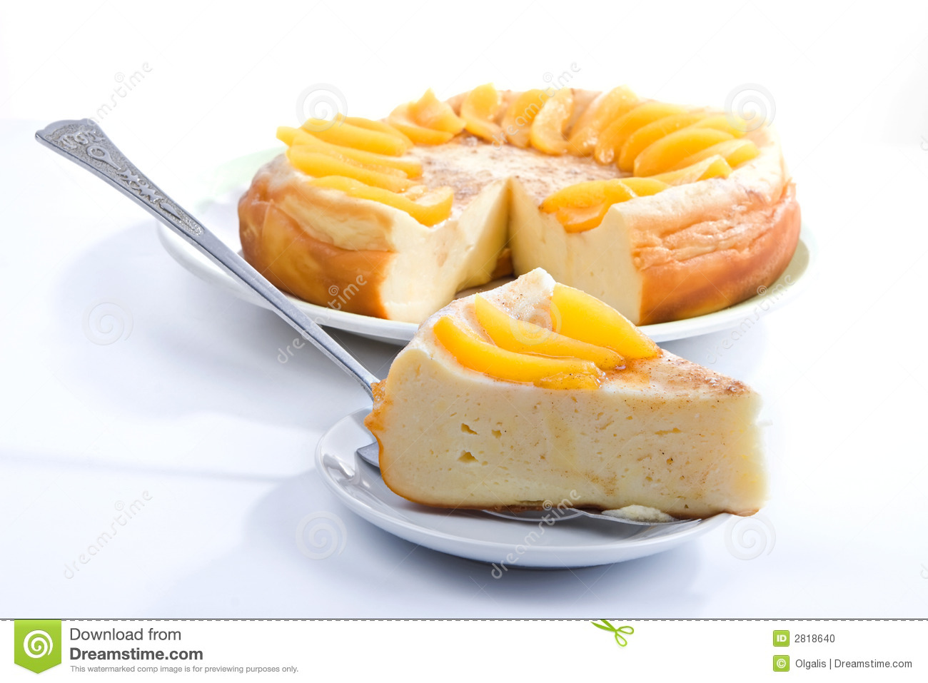Peach Pie Clipart Vanilla Pudding Pie
