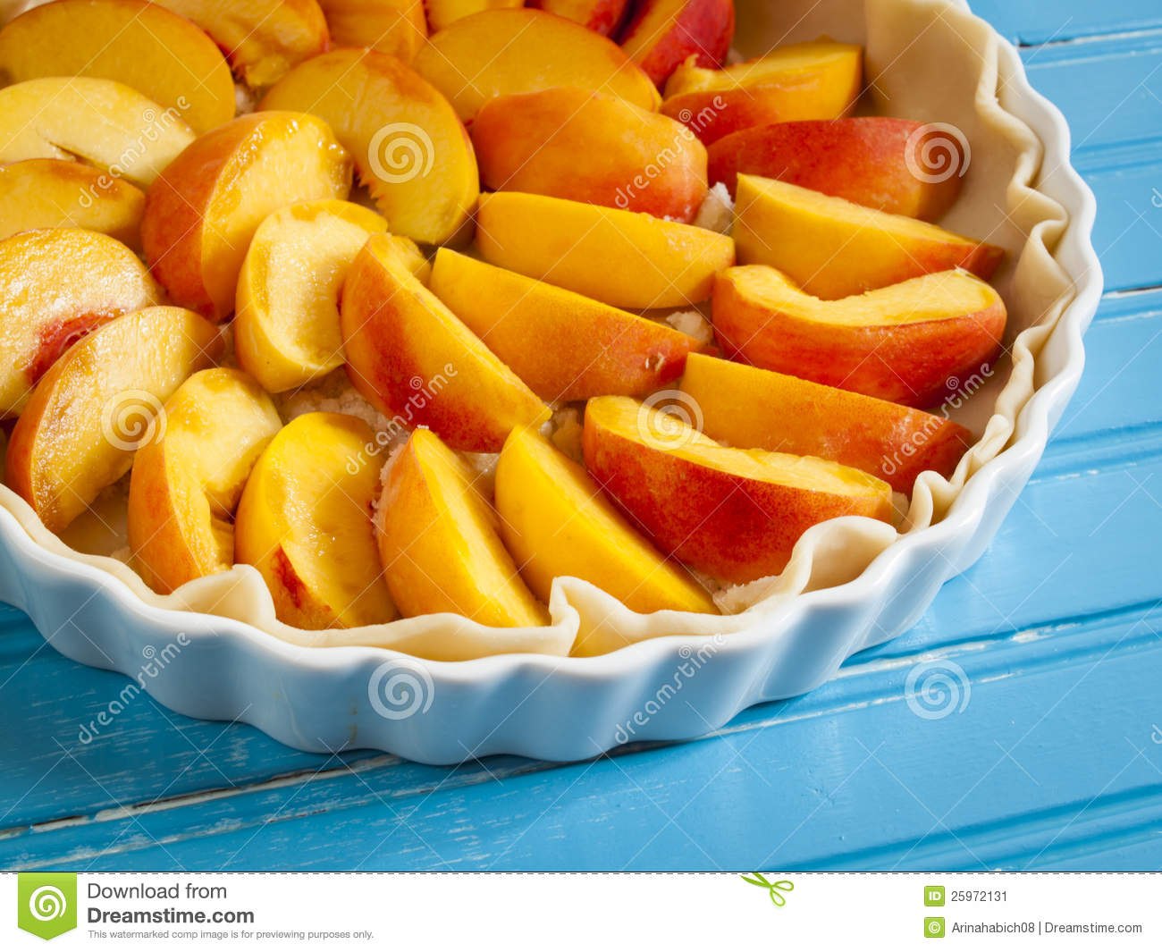 Peach Pie Stock Image   Image  25972131
