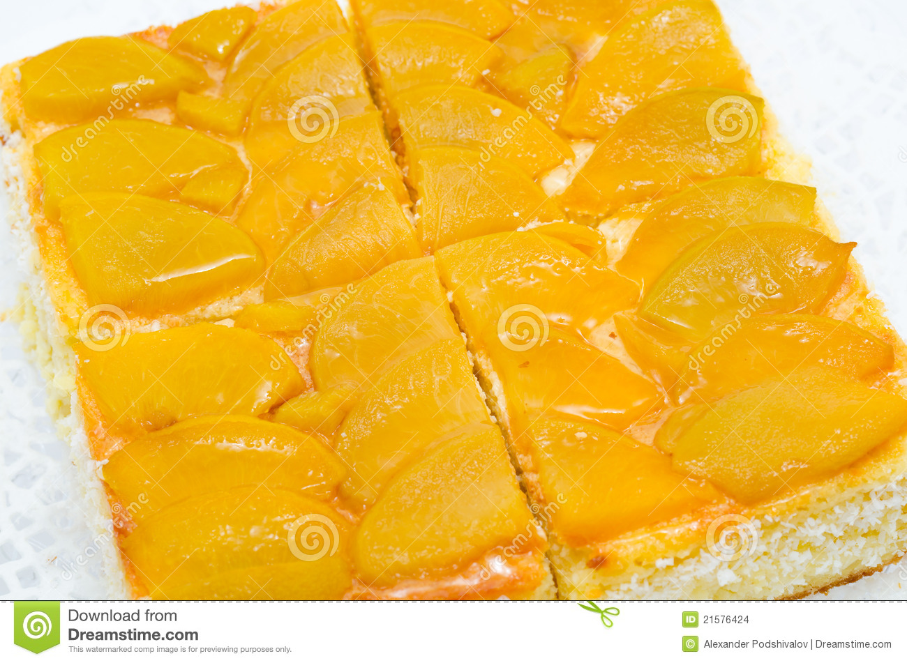 Peach Pie Stock Images   Image  21576424