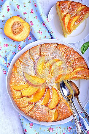 Peach Pie Stock Photo   Image  43535328