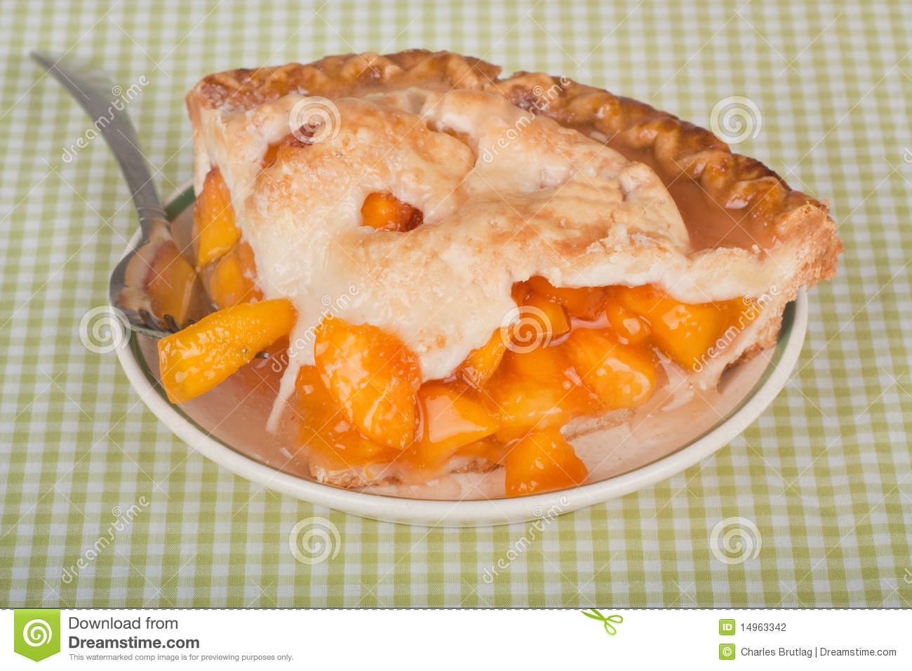 Peach Pie Stock Photography   Image  14963342