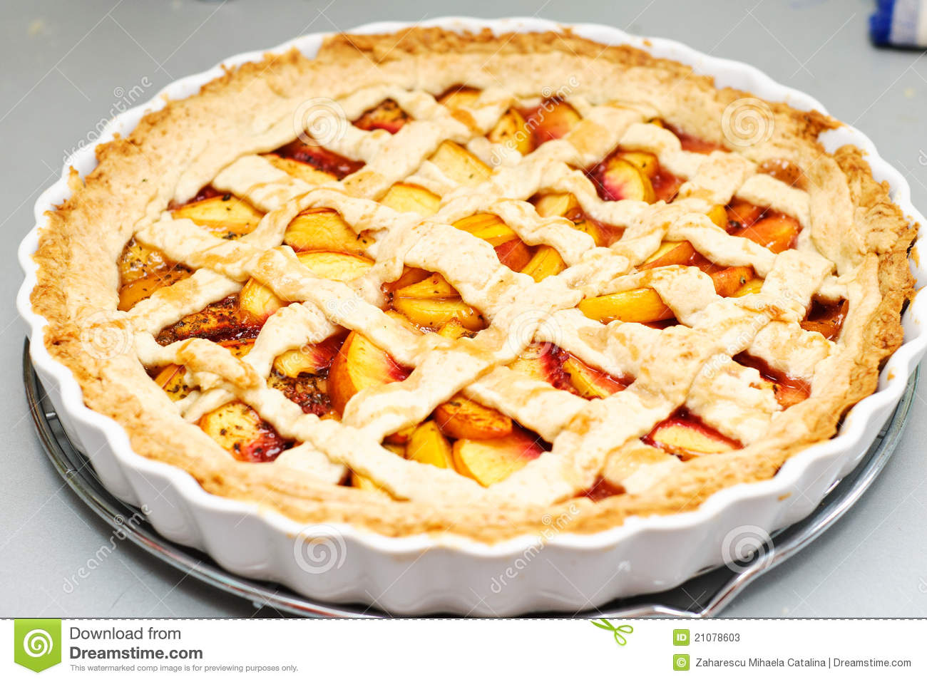 Peach Pie Stock Photos   Image  21078603