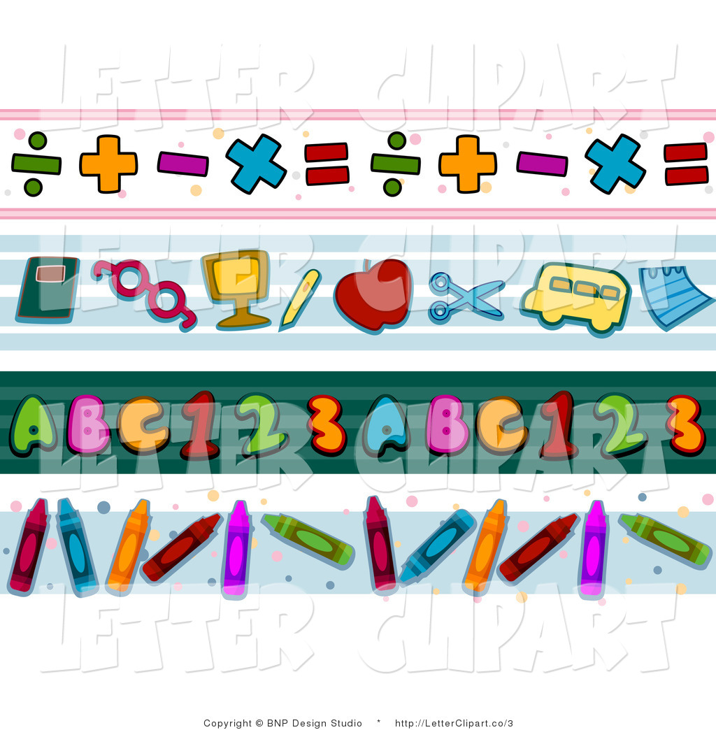 Preview Clip Art Of Math And School Borders By Bnp Design Studio Dwjlva Clipart Suggest