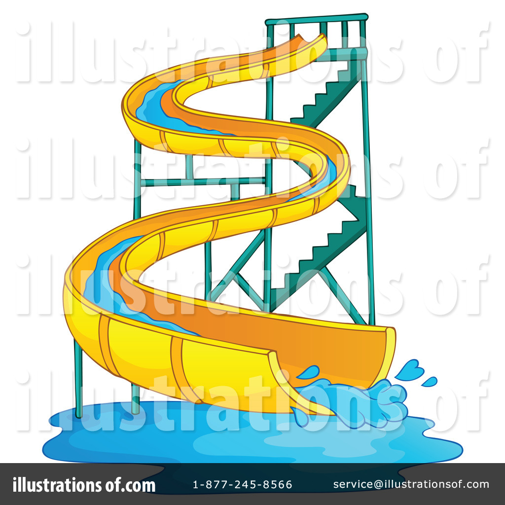Royalty Free  Rf  Water Slide Clipart Illustration By Visekart   Stock