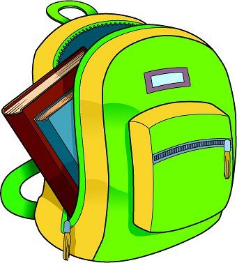 School   Backpack Books   Classroom Clipart