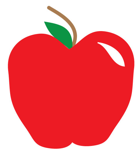 Shiny Red Apple Clipart