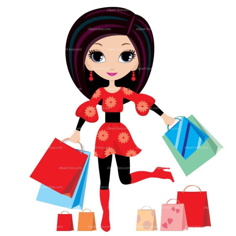 Girls Shopping Clipart - Clipart Kid