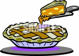 Slice Of Peach Pie   Royalty Free Clipart Picture