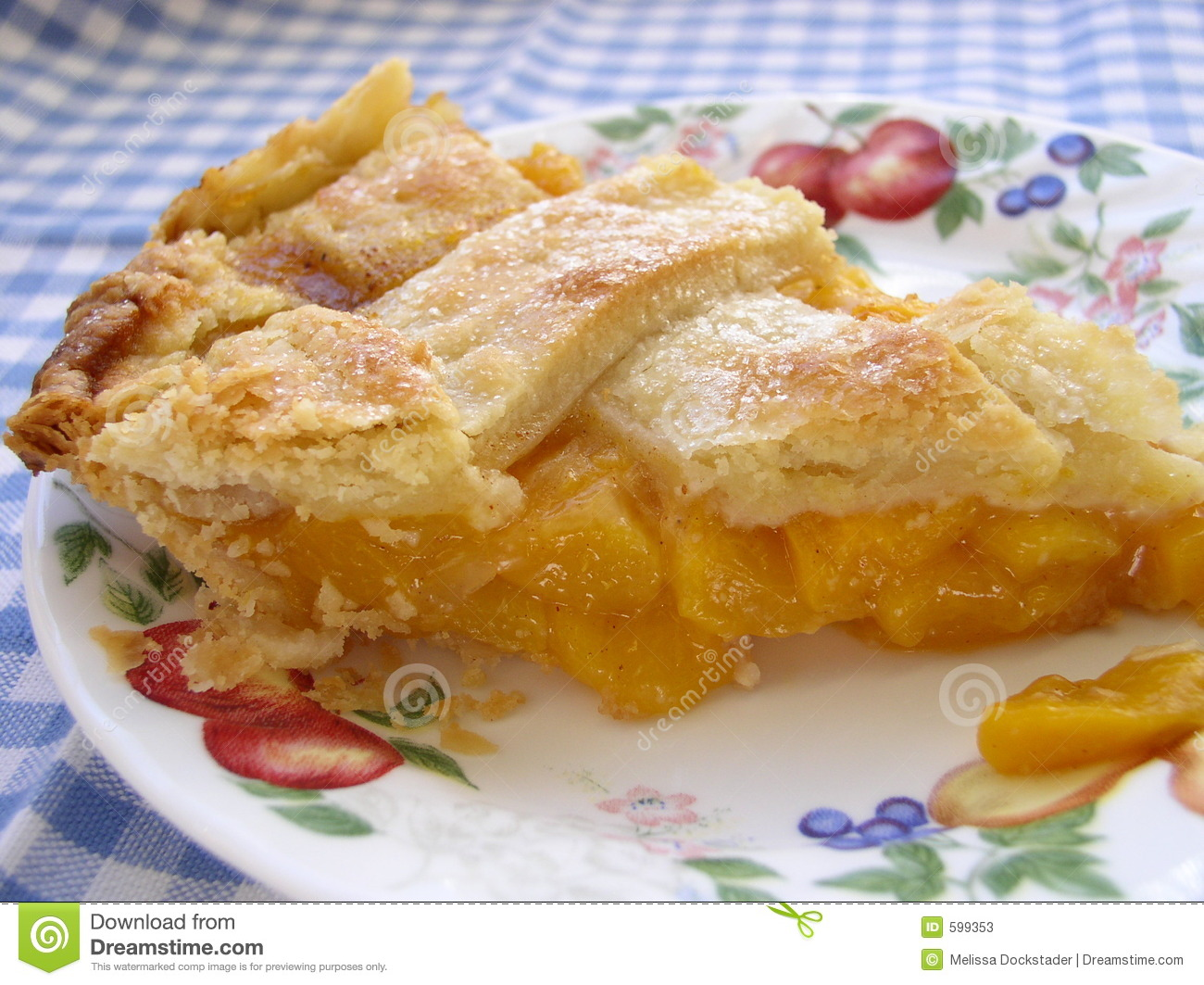 Slice Of Peach Pie Stock Photos   Image  599353