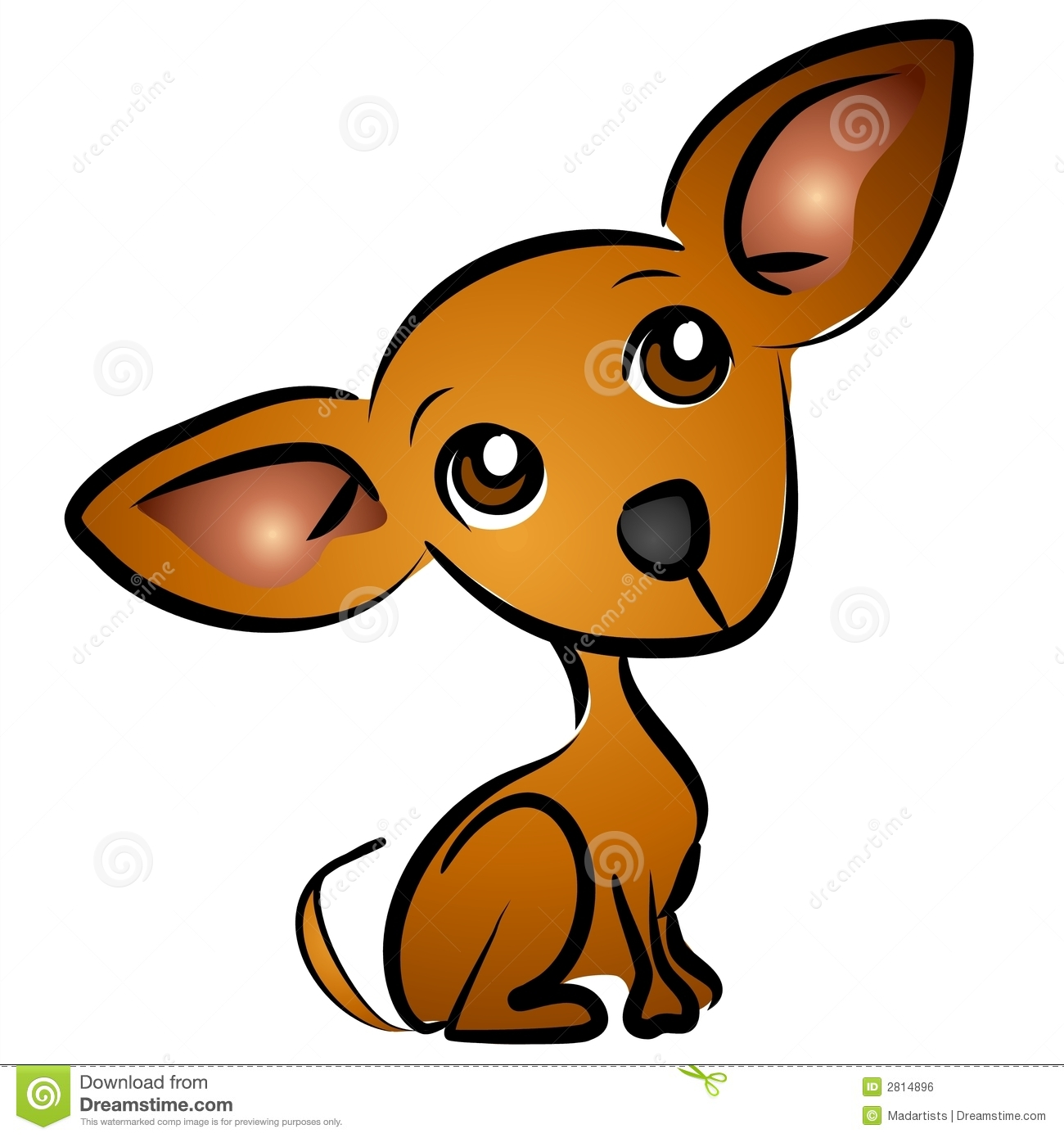 Clip Art Chihuahua Clipart chihuahua clipart kid small brown dog cartoon clip art illustration with classic
