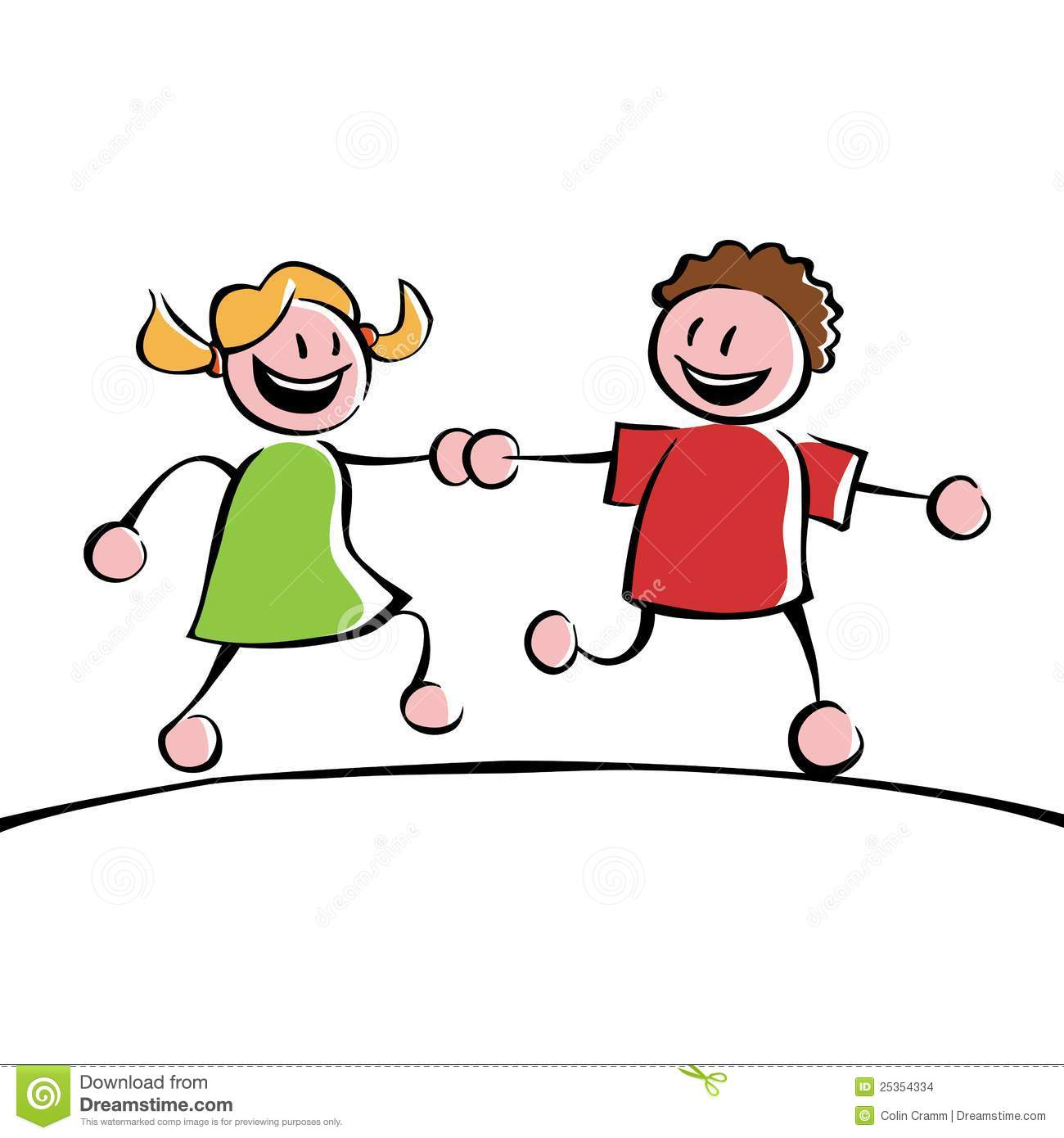 Two Friends Holding Hands Clipart Kids 25354334jpg Clipart