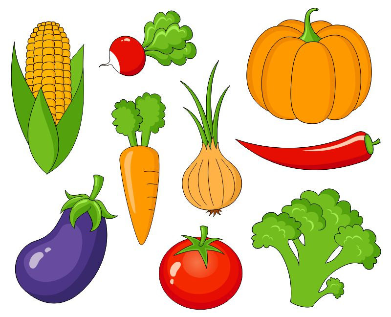 Clip Art Fruits And Vegetables Clipart fruits and veggies clipart kid vegetables clip art cute by yarkodesign on etsy