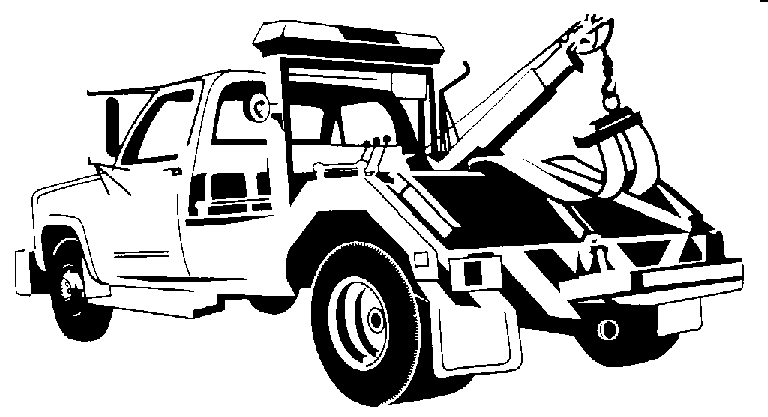 tow truck towing clipart