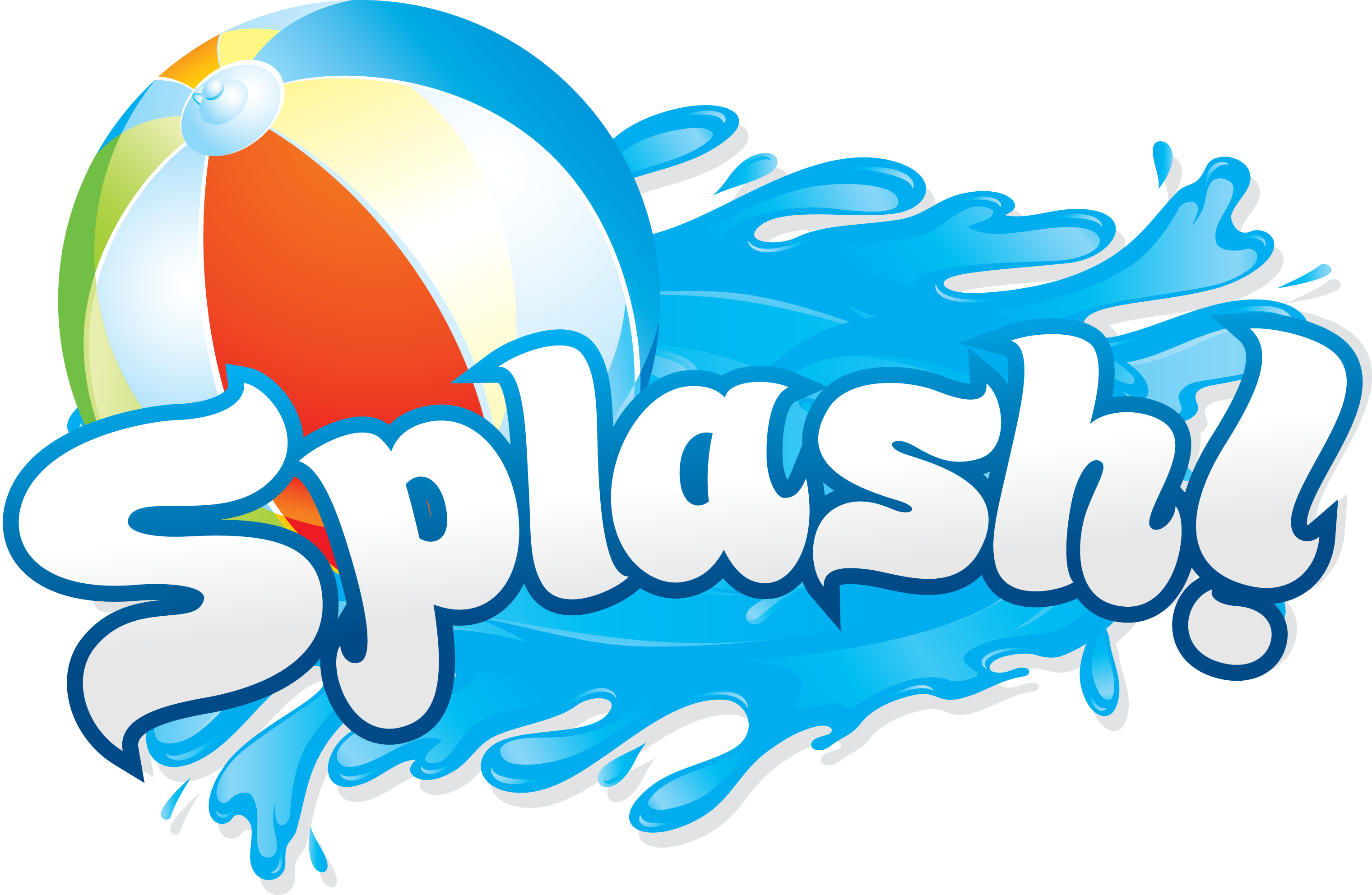 Water Slide Party Clipart