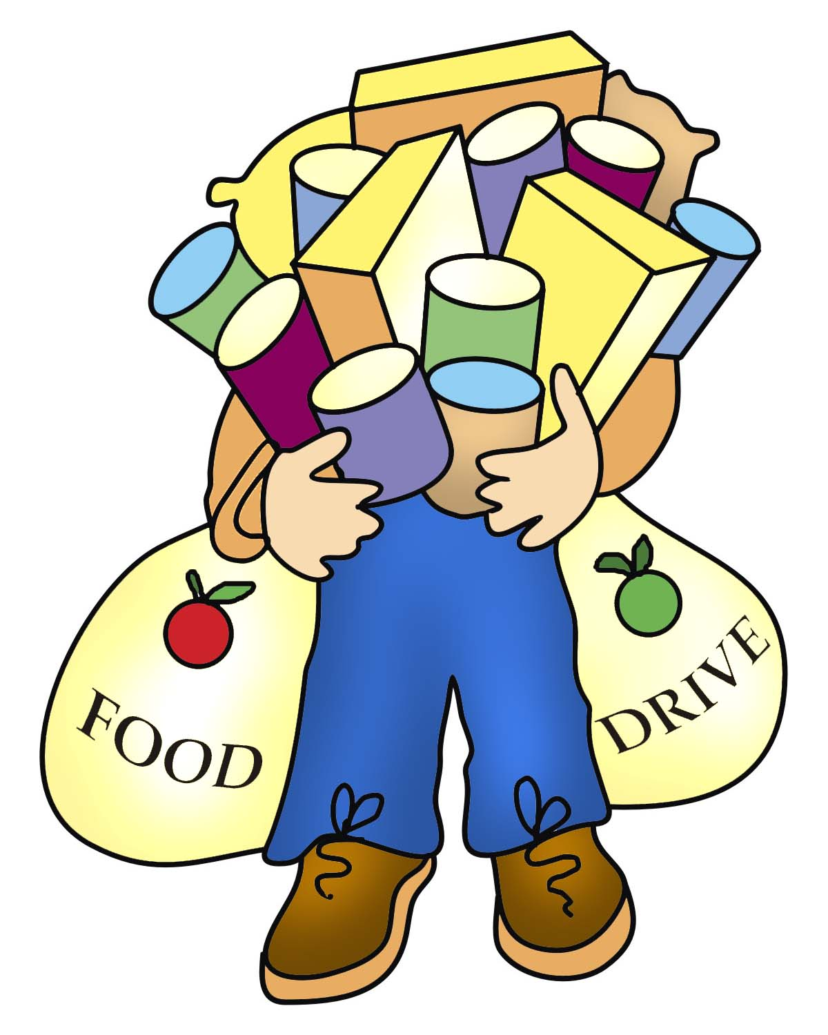 Christmas Food Donations Clipart - Clipart Kid