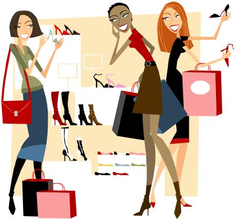 Women Shoe Shopping Clip Art Jpg