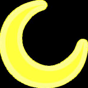 Clip Art Crescent Moon Clipart yellow crescent moon clipart kid clip art at clker com vector online