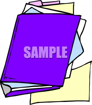 Binder Clipart Assorted Paper And A Binder