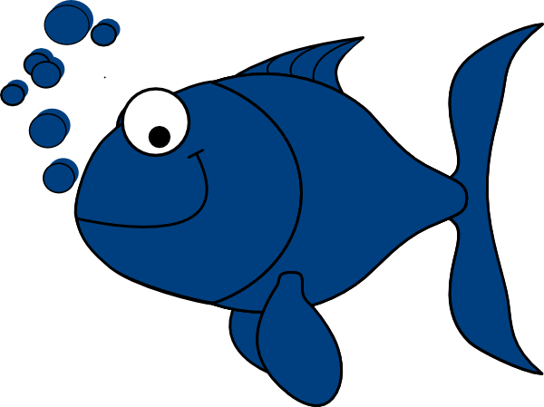 Blue Fish Clip Art At Clker Com   Vector Clip Art Online Royalty Free