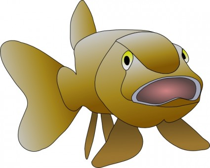 Brown Fish Clip Art Free Vector In Open Office Drawing Svg    Svg