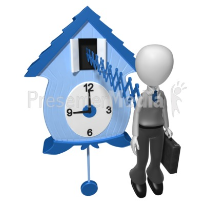Businessman Cuckoo Clock   Business And Finance   Great Clipart For