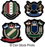 Classic Wreath Emblem Badge   Royal Classic Wreath Emblem