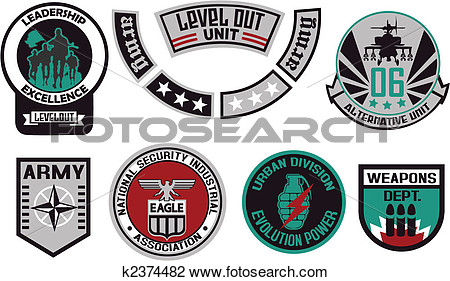 Clipart   Emblem Shield Military Badge Logo  Fotosearch   Search Clip