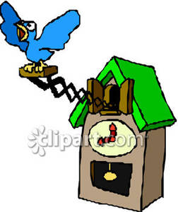Clipart Picture Of A Cuckoo Clock Going Off